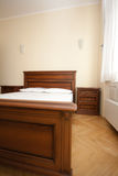 Empty wooden bedroom Royalty Free Stock Photo