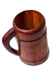Empty wooden beer mug Stock Images