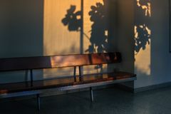 Empty Wooden Bench Royalty Free Stock Photos