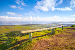 Empty wooden bench, Dominican Republic. Empty wooden bench on the top of Montana Redonda. Dominican Republic Royalty Free Stock Photography