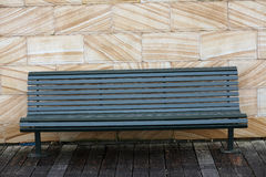 Empty wooden bench. In green Royalty Free Stock Photos