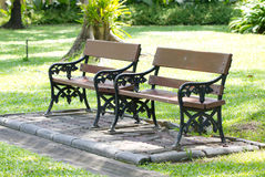 Empty Wooden Bench. Stock Images