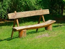 Empty wooden bench park. Empty wooden bench in the park Stock Photos