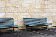 Empty wooden benches Royalty Free Stock Images