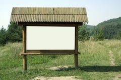 Empty wooden billboard Stock Photography