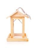 Empty wooden bird feeder house Stock Photos