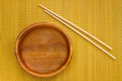 Empty Wooden Bowl Royalty Free Stock Image