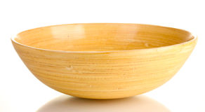 Empty wooden bowl royalty free stock images