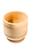 Empty wooden bowl Stock Photography