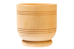 Empty wooden bowl Royalty Free Stock Photography