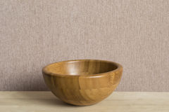 Empty wooden bowl Royalty Free Stock Photos