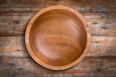 Empty wooden bowl Stock Photos