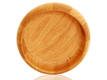 Empty wooden bowl top view Royalty Free Stock Photo