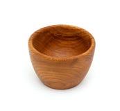 Empty wooden bowl Stock Photos