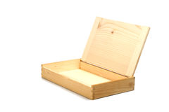 Empty wooden box. Empty box made of natural wood Stock Photos