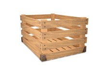 An empty wooden box. Royalty Free Stock Images