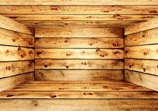 Empty wooden box Stock Photography