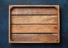 Empty wooden box Stock Photo