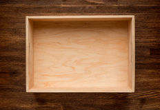 Empty wooden box Stock Photos