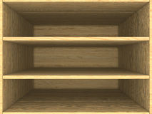 Empty wooden box Stock Image