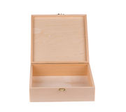 Empty wooden box. Royalty Free Stock Images