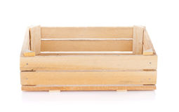 Empty wooden box Royalty Free Stock Images