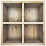 Empty wooden box. Royalty Free Stock Photography