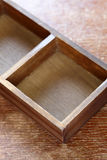 Empty wooden box Stock Photography