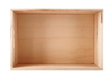 Empty wooden box Royalty Free Stock Photography