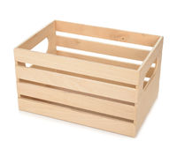 Empty wooden box Royalty Free Stock Image