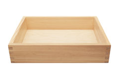 Empty wooden box Stock Images