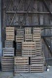 Empty wooden boxes Stock Photos