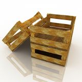 Empty wooden boxes Royalty Free Stock Photography