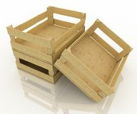 Empty wooden boxes Royalty Free Stock Image