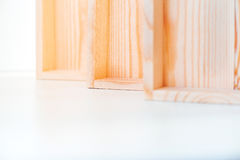 Empty wooden boxes Stock Photos