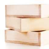 Empty wooden boxes Royalty Free Stock Images