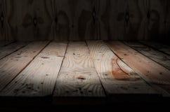 Empty wooden bridge on wall Stock Image
