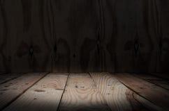 Empty wooden bridge on wall Stock Images