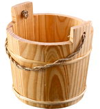 Empty wooden bucket. Stock Image