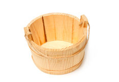 Empty wooden bucket ,kitchen uthesis Royalty Free Stock Images