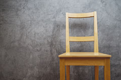 Empty Wooden Chair Stock Image