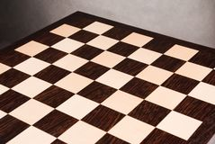 Empty wooden chess board Stock Photography