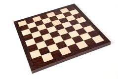 Empty wooden chess board Royalty Free Stock Image