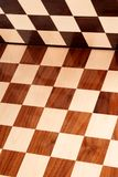 Empty wooden chess board Royalty Free Stock Photo