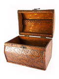 Empty wooden chest Royalty Free Stock Images