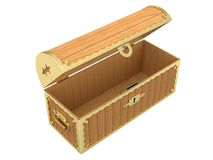 Empty Wooden Chest Royalty Free Stock Photo