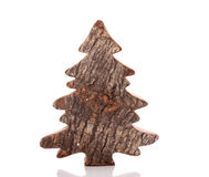 An empty wooden christmas tree Stock Image