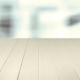 Empty wooden counter background Stock Images