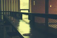 Empty wooden counter bar Stock Photos