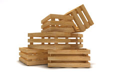 Empty wooden crate Stock Images